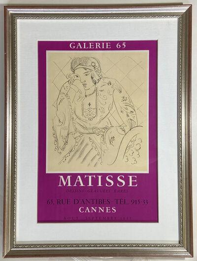 Henri Matisse, 'Matisse, Dessins, Gravures Rares, Galerie 65, Cannes Gallery Poster', 1955