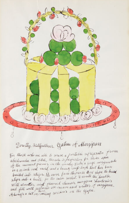 Andy Warhol, 'Dorothy Killgallens Gateau of Marzipan, from Wild Raspberries', 1959