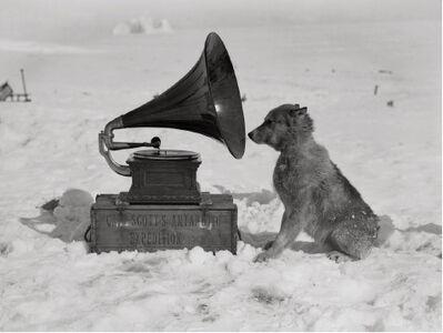 Herbert George Ponting, 'Chris and the gramophone', ca. 1911
