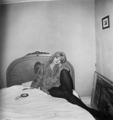 Diane Arbus, 'Girl in a coatlying on her bed, N.Y.C. 1968', 1968