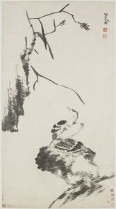Bada Shanren (Zhu Da) 八大山人 (朱耷), 'Two Geese', Qing dynasty-ca. 1700