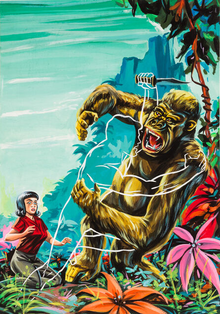 'Untitled (Outline man attacking gorilla)', c. 1960-75