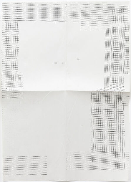 Sue Tompkins, 'Untitled (Text reads: Yes or no)', 2012