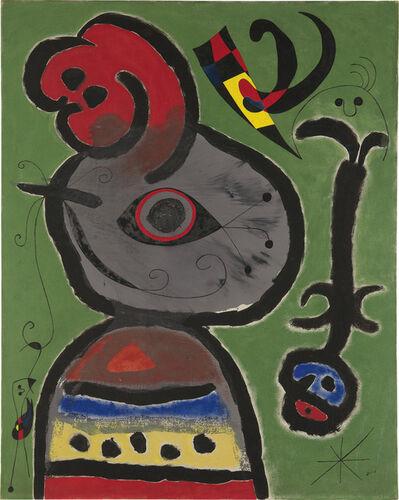 Joan Miró, 'Paysan catalan inquiet par le passage d'un vol d'oiseaux', 1952