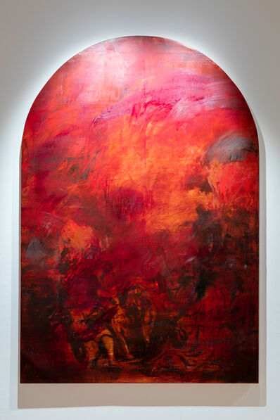 Jake Wood-Evans, 'The Assumption with Alizarin Crimson, after Rubens', 2019