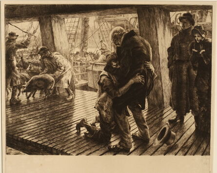 James Jacques-Joseph Tissot, 'The Return, from The Parable of the Prodigal Son, a set of four plus title plate', 1881-2