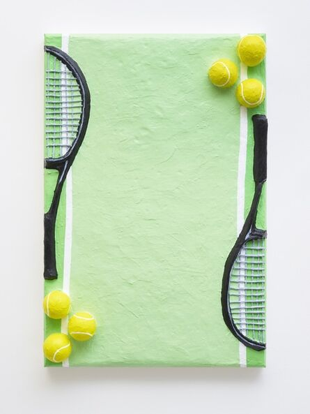 Gina Beavers, 'Tennis Racket Stationery', 2018