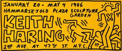 Keith Haring, 'Keith Haring illustrated 1986 announcement', 1986