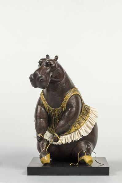 Bjorn Skaarup, 'Seated Hippo Ballerina', 2021
