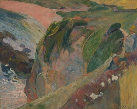 Paul Gauguin, 'The Flageolet Player on the Cliff', 1889