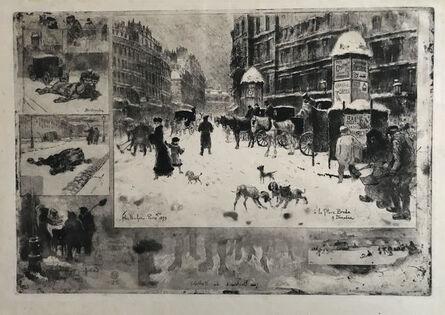 Félix Hilaire Buhot, 'L'Hiver a Paris/Winter in Paris', 1879