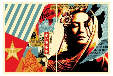 Shepard Fairey, 'Welcome visitor (set of 2)', 2017