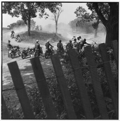 Danny Lyon, 'Scrambles track, McHenry, Illinois, The Bikeriders Portfolio', 1966
