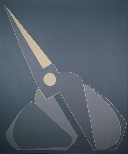 Mao Xuhui 毛旭辉, 'Outline, Black-grey Scissors, Inclined', 2008