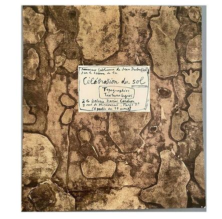 """Jean Dubuffet, '""""Célébration du Sol"""", 1959, Exhibition Invite/Mailer/POSTER, Daniel Cordier Gallery Paris', 1959"""