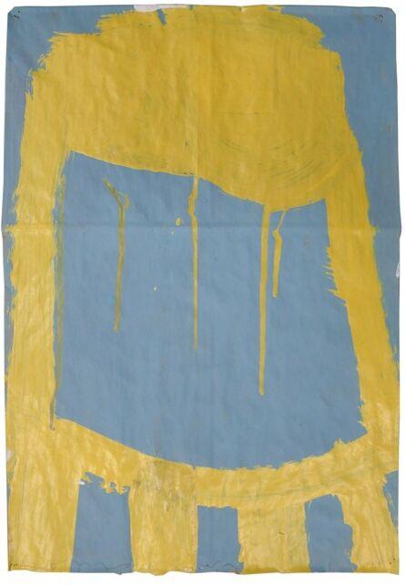 Gary Komarin, 'Small Stacked Cake (Yellow on Blue)'