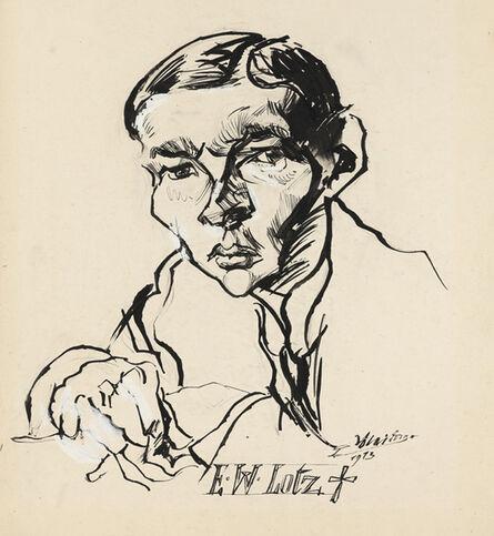 Ludwig Meidner, 'Ernst Wilhelm Lotz', 1913