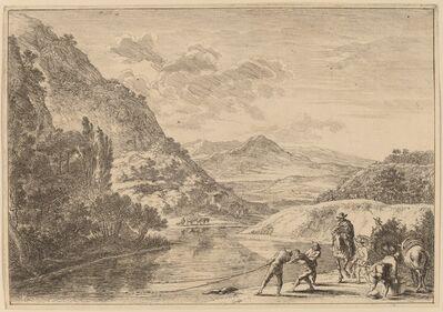 Jan Both, 'Fishermen at the Tiber, near the Soracte'