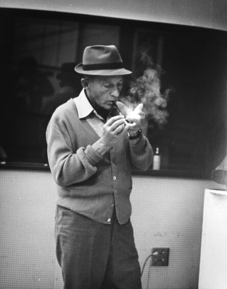 Murray Garrett, 'Bing Cosby Lites Up His Pipe Before a Recording', ca. 1955