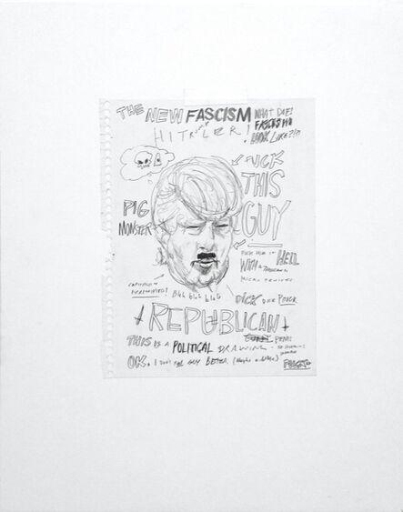 William Powhida, 'The New Fascisim ', 2016