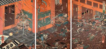 Utagawa Kuniyoshi, 'Battle of Rokuhara', ca. 1850