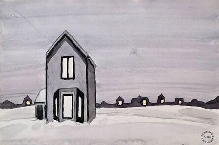Charles Ephraim Burchfield, 'Gray House', ca. 1920