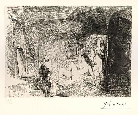 Pablo Picasso, 'Peintre, Modèle et Toile ', 1971