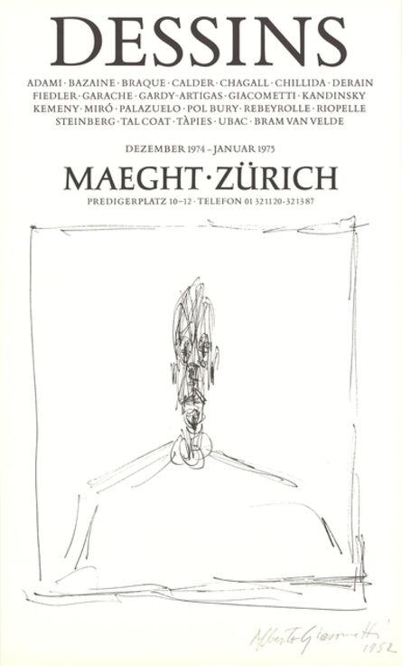 Alberto Giacometti, 'Dessins ', 1974