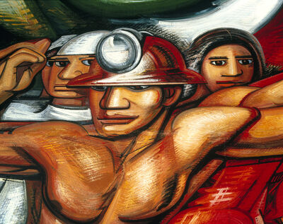 David Alfaro Siqueiros, 'For the Complete Safety of All Mexicans at Work [detail]', 1952-1954