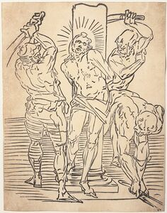 Luca Cambiaso, 'The Flagellation of Christ', Before 1585