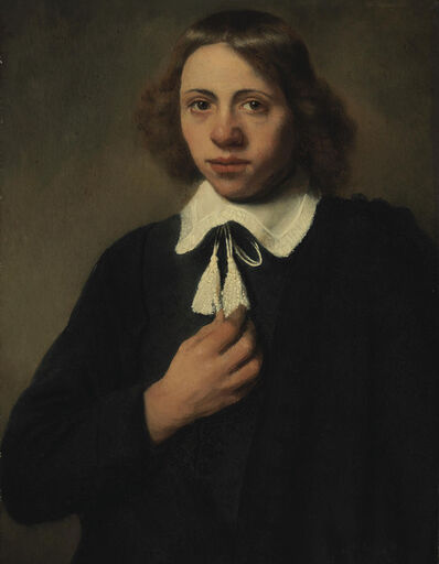 Jacobus Levecq, 'Portrait of a young man in black, half-length'