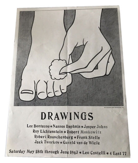 """Lee Bontecou, '""""DRAWINGS"""", 1963, Group Exhibition Announcement/Invitation/Mailer/Poster, LARGE, RARE Example', 1963"""