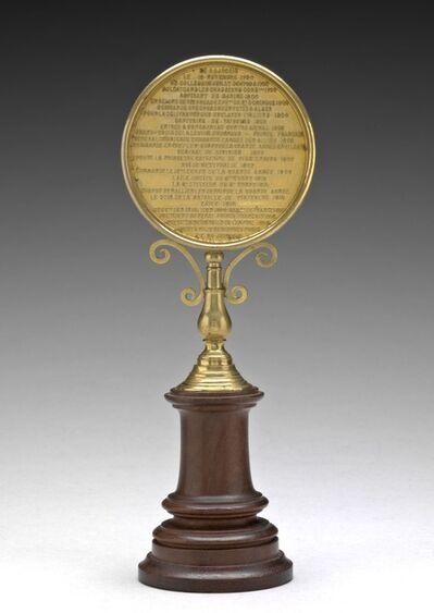 Albert-Désiré Barre, 'Inscription [reverse]', 1860