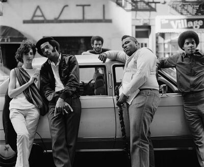 Sophie Bramly, 'Afrikka Bambaataa with crew', 1983