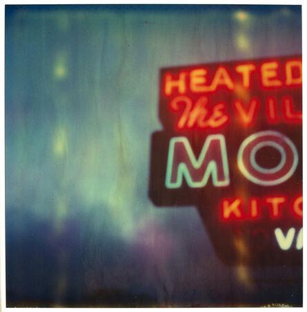 Stefanie Schneider, 'The Village Motel Blue - analog, mounted, Polaroid, Contemporary, Icons, Color, Neon', 2005