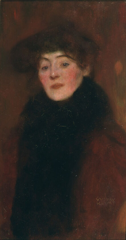 Gustav Klimt, 'Woman with Fur Collar', 1897
