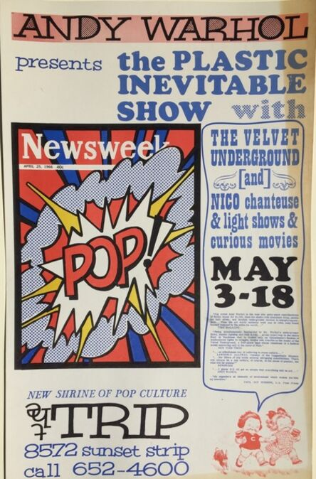 Andy Warhol, '(after) ANDY WARHOL 1966 POP CULTURE ICONIC POSTER  Read Description below', 1966