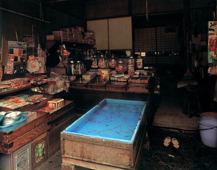 """Yutaka Takanashi, 'Asukasabashi, Torigoe: Cheap Sweet Shop, 1-21-3 Torigoe, Taito-ku, from the series """"Machi""""', 1977"""