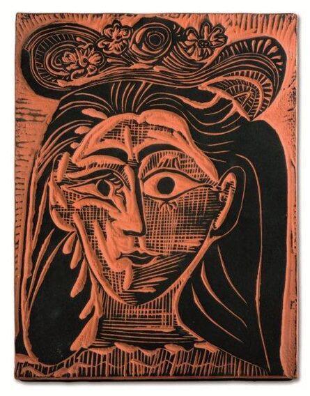 Pablo Picasso, 'Femme au chapeau fleuri (A.R.521)', 1964
