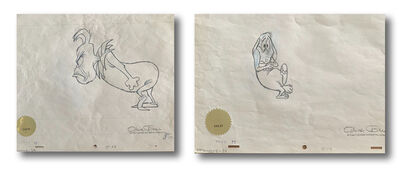 """Chuck Jones, 'Pair of Original, Matching Production Drawings from """"How the Grinch Stole Christmas""""', 1966"""