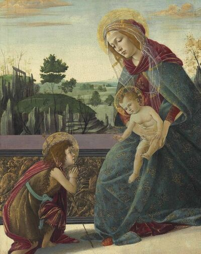 Sandro Botticelli, ''The Rockefeller Madonna': Madonna and Child with Young Saint John the Baptist'