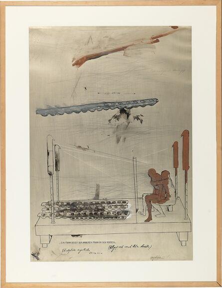 Bruno Gironcoli, 'Ein Mann beisst dem anderen Mann in den Rücken (Guss nach Menschenmodell)', ca. 1978