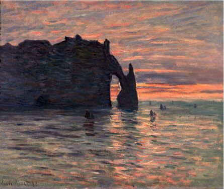 Claude Monet, 'Sunset at Étretat', 1883