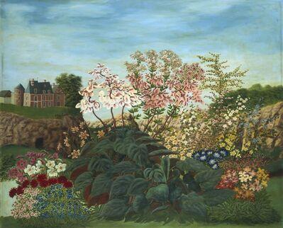 André Bauchant, 'Flowers in a Landscape', 1951