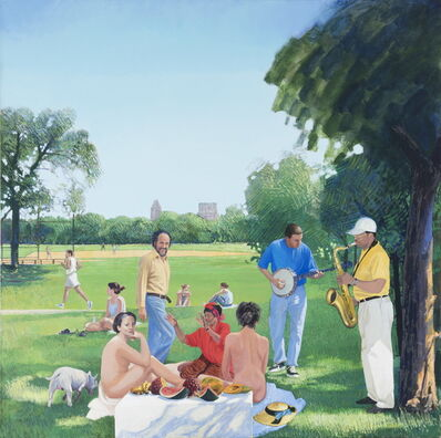 Herman Braun-Vega, 'Le Déjeuner in Central Park (Manet)', 1989