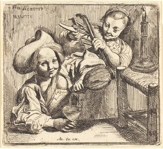 Pierre Brebiette, 'The Little Girls' Tavern', ca. 1620