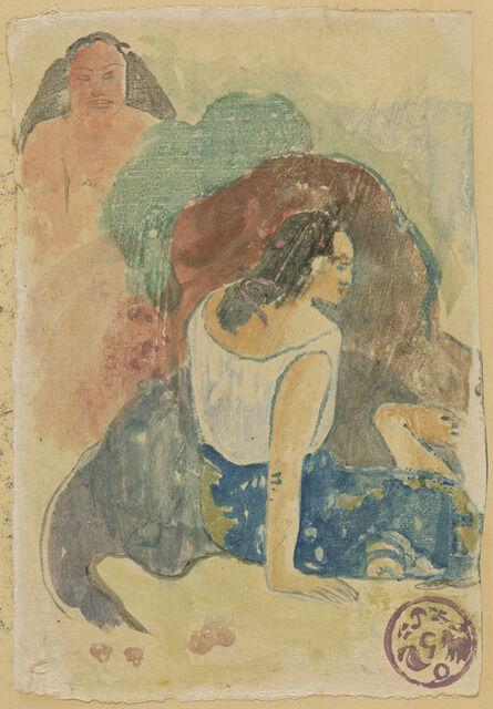 Paul Gauguin, 'Arearea no Varua Ino (Words of the Devil) [recto]', 1894