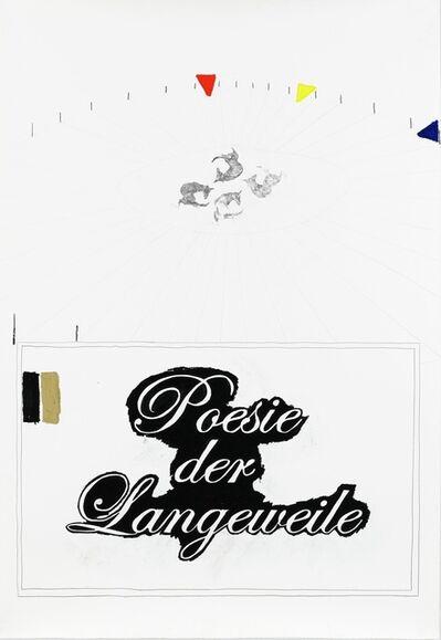 Ante Timmermans, 'Intro (Poesie der Langeweile)', 2010