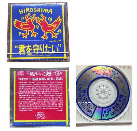 """Keith Haring, '""""Hiroshima88"""", 1988, First Pressing, Mini CD (rare version), Diameter 2.75 in. (7 cm.)', 1988"""