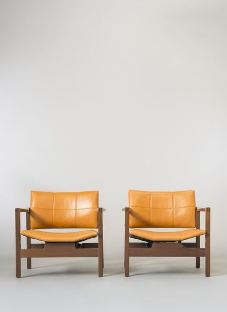 Michel Mortier, 'Pair of armchairs SF112 - Hexagone', 1960